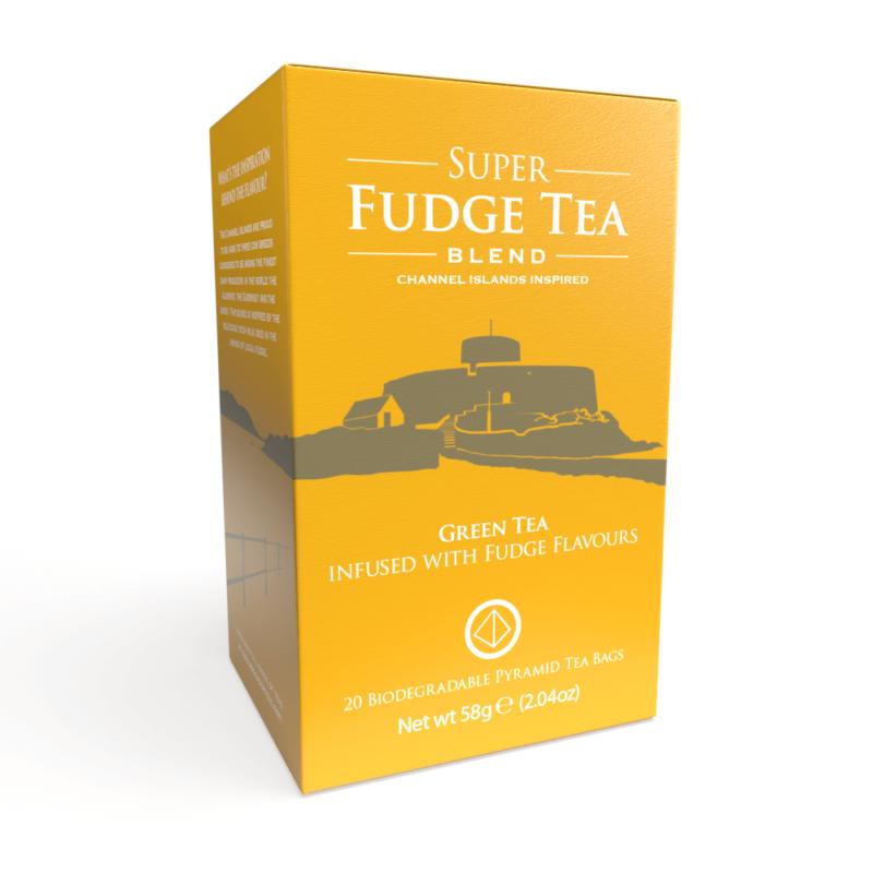 Super Fudge Tea - 20 Biodegradable Pyramid Tea Bags Front
