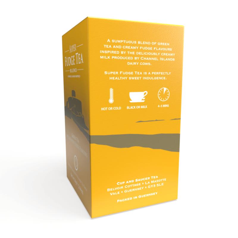 Super Fudge Tea - 20 Biodegradable Pyramid Tea Bags Right