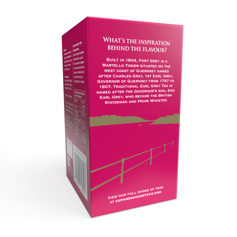 Floral Fort Grey Tea - 20 Biodegradable Pyramid Tea Bags Left