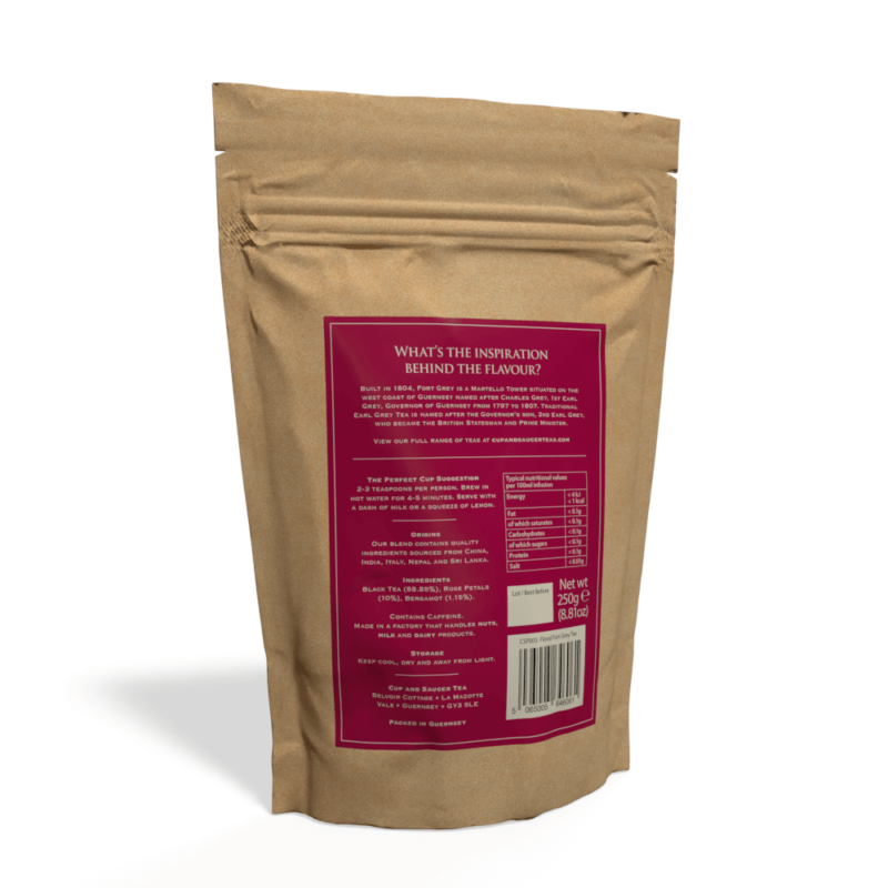 Floral Fort Grey Tea - 250g Pouch of Loose Tea Back