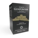 Lemon Gunpowder Tea - 20 Biodegradable Pyramid Tea Bags Front