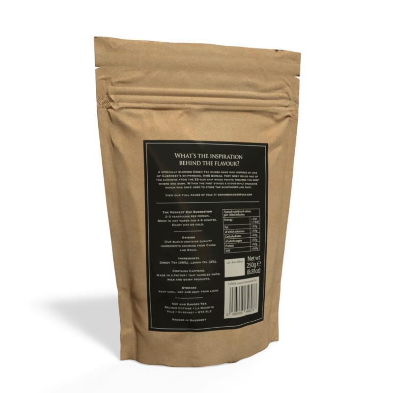 Lemon Gunpowder Tea - 250g Pouch of Loose Tea Back