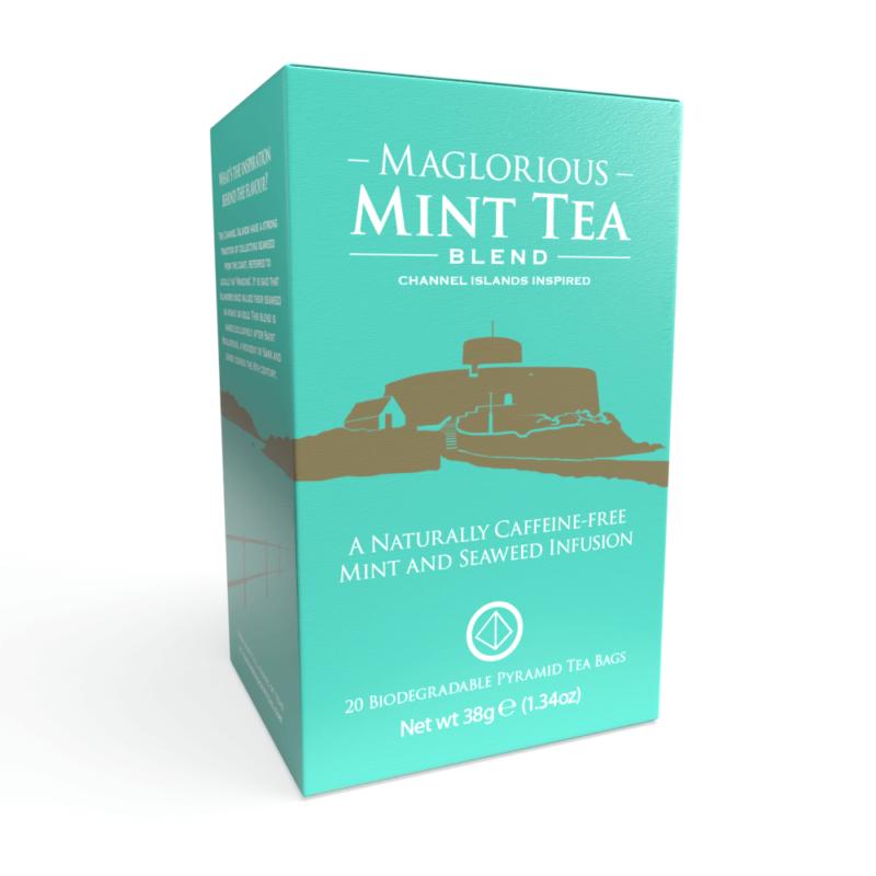 Maglorious Mint Tea - 20 Biodegradable Pyramid Tea Bags Front