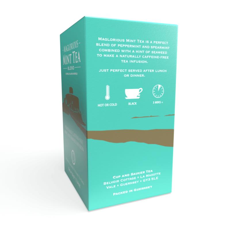 Maglorious Mint Tea - 20 Biodegradable Pyramid Tea Bags Right