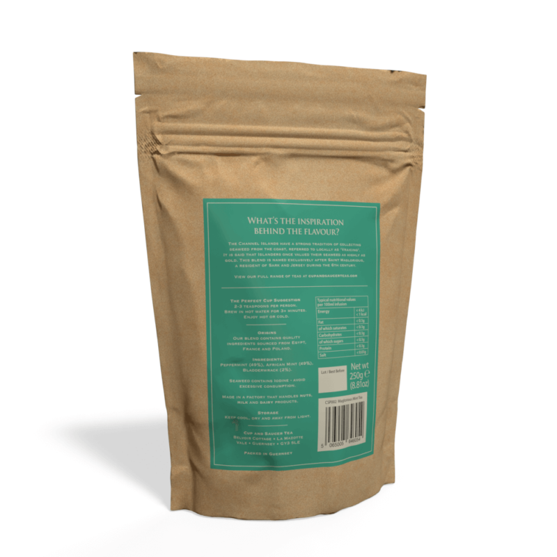 Maglorious Mint Tea - 250g Pouch of Loose Tea Back